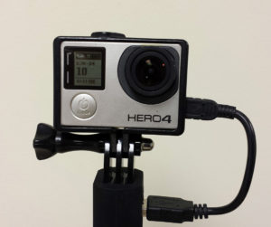 GoPro Hero4 on a Wasabi Clutch Battery Handle