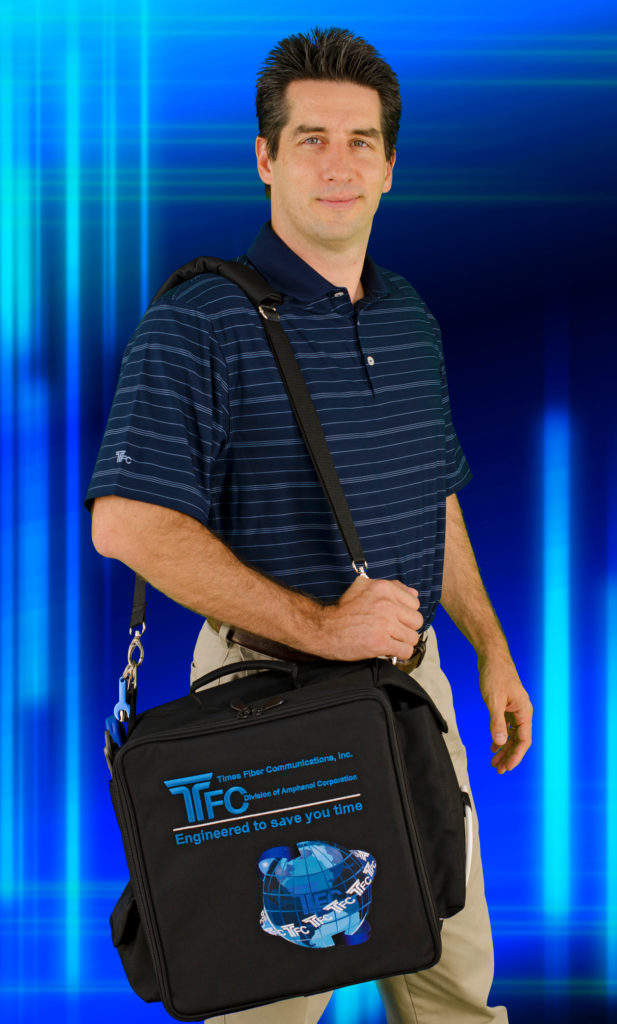 Times Fiber Amphenol Shirt and Bag Model